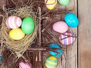 Собирать пазл Гнездо и крашенки онлайн