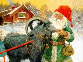 Собирать пазл Гном и козёл онлайн