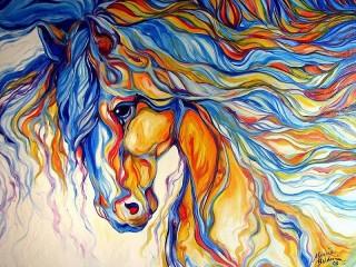 Собирать пазл Голова лошади онлайн