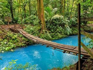 Собирать пазл Голубая река онлайн