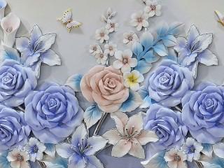 Собирать пазл Голубые розы онлайн