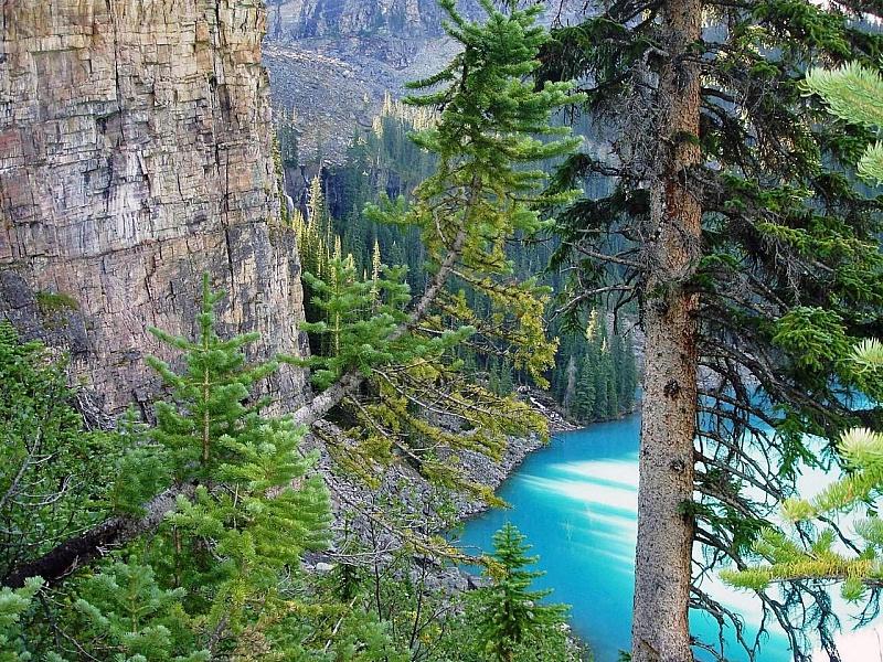 Пазл Собирать пазлы онлайн - Голубое озеро
