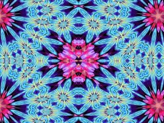 Собирать пазл Голубой и розовый онлайн
