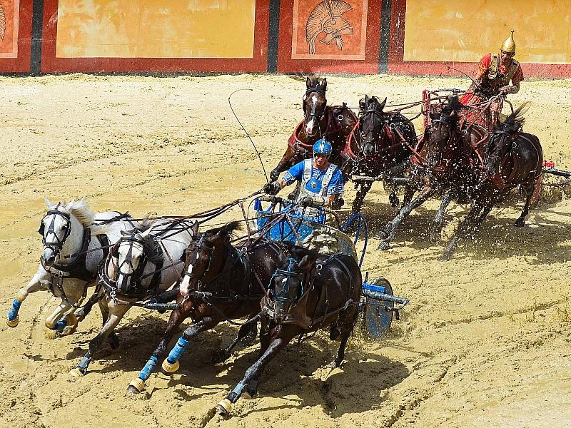 Пазл Собирать пазлы онлайн - Гонки колесниц