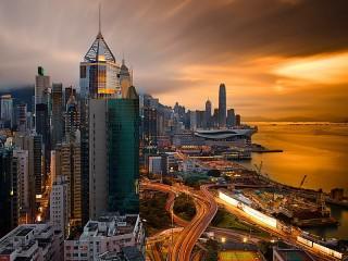 Собирать пазл Гонконг онлайн