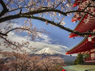 Собирать пазл Гора и пагода онлайн