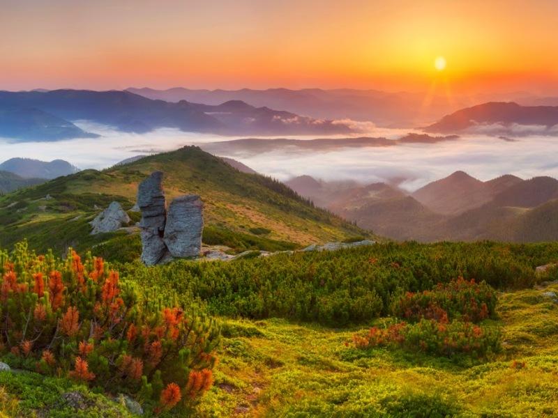 Пазл Собирать пазлы онлайн - Гора Вухатый Камень