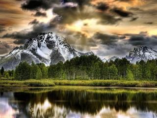 Собирать пазл Горы онлайн