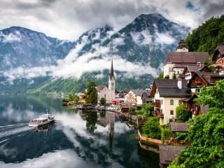 Собирать пазл Горы в Австрии  онлайн
