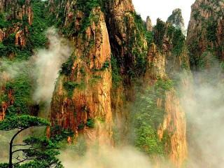Собирать пазл Горы в тумане онлайн