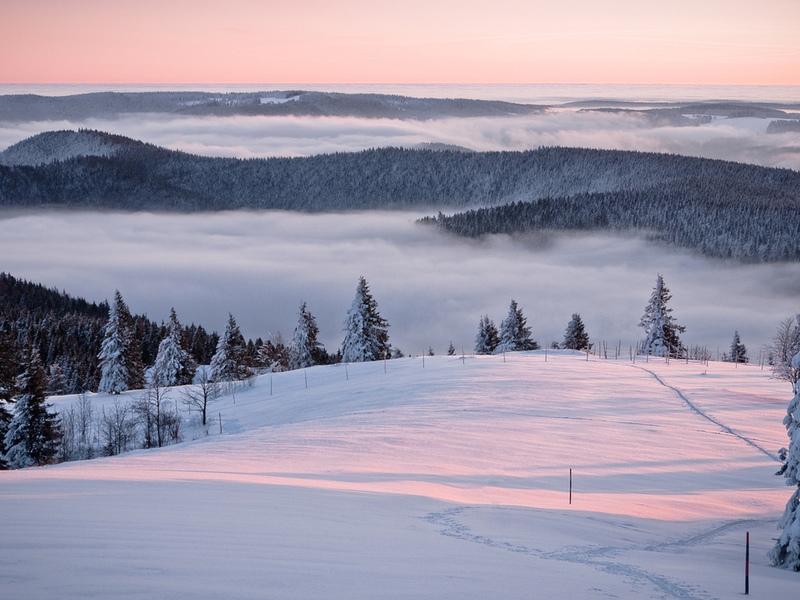 Пазл Собирать пазлы онлайн - Горы зимой