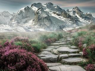 Собирать пазл Горный пейзаж онлайн