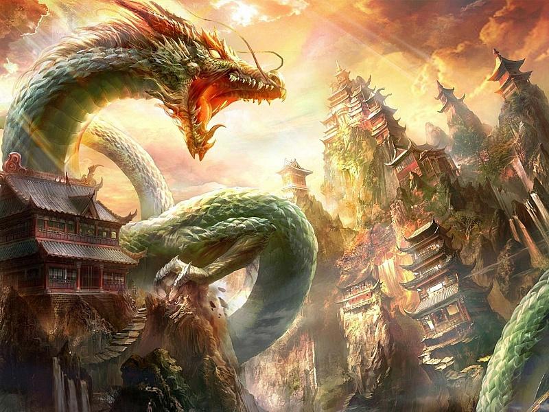 Пазл Собирать пазлы онлайн - Горный дракон