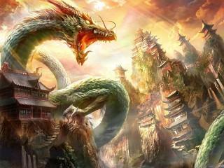 Собирать пазл Горный дракон онлайн
