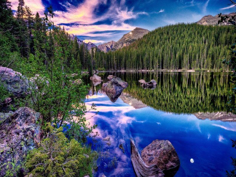 Пазл Собирать пазлы онлайн - Горное озеро 2
