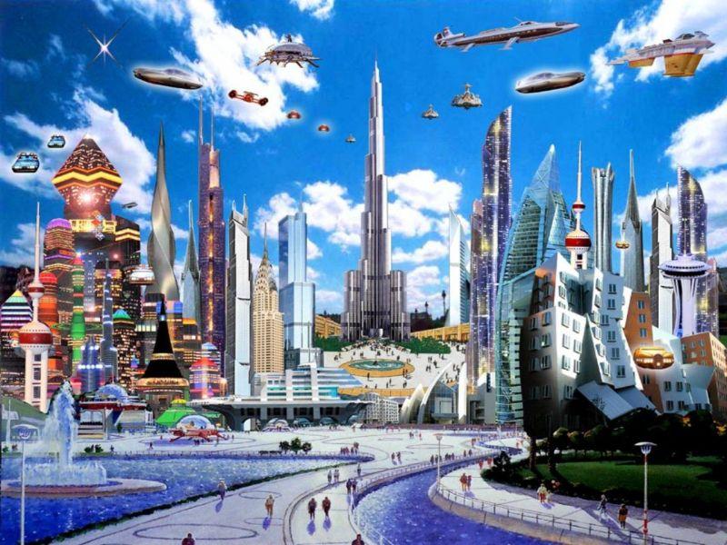 Пазл Собирать пазлы онлайн - Город будущего