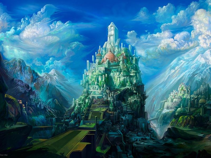 Пазл Собирать пазлы онлайн - Город мечты
