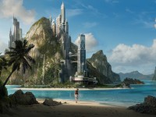 Собирать пазл Город на острове онлайн