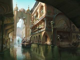 Собирать пазл Город на воде онлайн