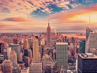 Собирать пазл Город Нью-Йорк онлайн