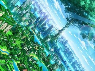 Собирать пазл Город в зелени онлайн