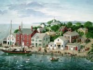 Собирать пазл Городок у моря  онлайн