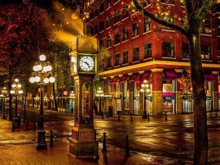 Собирать пазл Городские часы онлайн