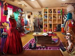 Собирать пазл Грдеробная комната онлайн