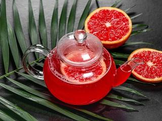Собирать пазл Грейпфрутовый чай онлайн