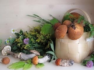 Собирать пазл Грибы и травы онлайн