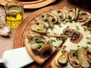 Собирать пазл Грибная пицца онлайн