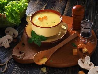 Собирать пазл Грибной крем-суп онлайн