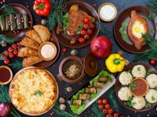 Собирать пазл Грузинская кухня онлайн