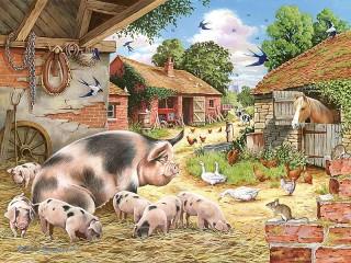 Собирать пазл Грязные свиньи онлайн