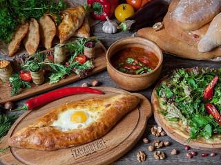 Собирать пазл Хачапури с яйцом онлайн