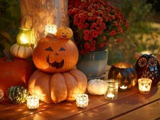 Собирать пазл Halloween lights онлайн