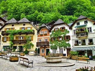 Собирать пазл Хальштатт Австрия онлайн