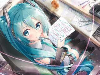 Собирать пазл Hatsune Miku онлайн