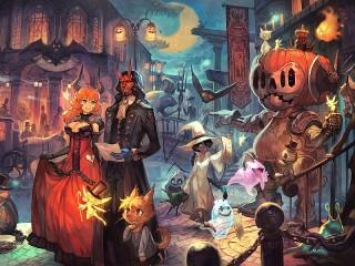 Собирать пазл Хеллоуин онлайн
