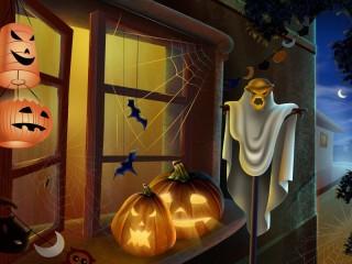 Собирать пазл Хэллоуин  онлайн