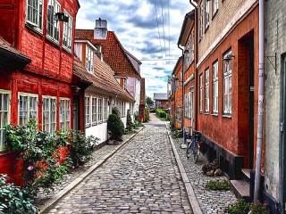 Собирать пазл Хельсингер Дания онлайн