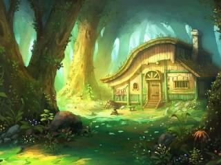 Собирать пазл Хижина в лесу онлайн