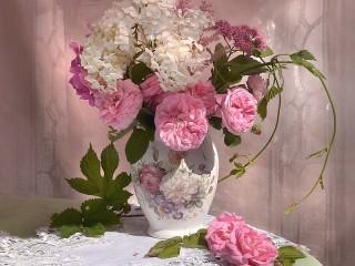 Собирать пазл Хмельные розы онлайн
