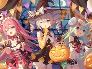 Собирать пазл Honkai Impact Halloween онлайн