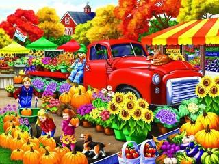 Собирать пазл Хороший урожай онлайн