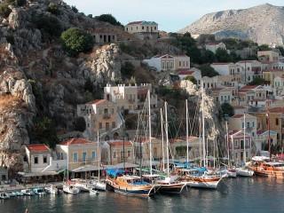 Собирать пазл Пристань в Греции онлайн