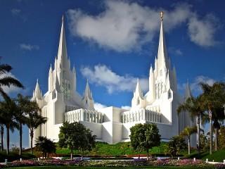 Собирать пазл Храм мормонов онлайн