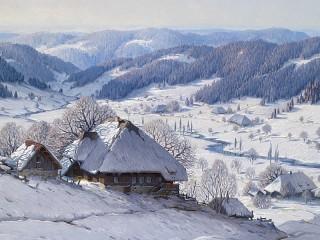 Собирать пазл Хутор зимой онлайн