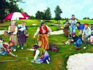 Собирать пазл Игра гольф онлайн