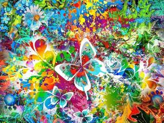 Собирать пазл Игра красок и цветов онлайн